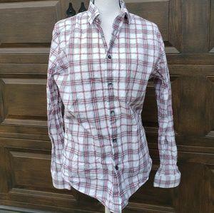 Mens EXPRESS extra slim fit button down shirt M